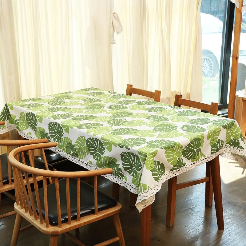 宜家棉麻防水桌布北欧格子ins风茶几野餐桌垫小清新书桌布艺定制