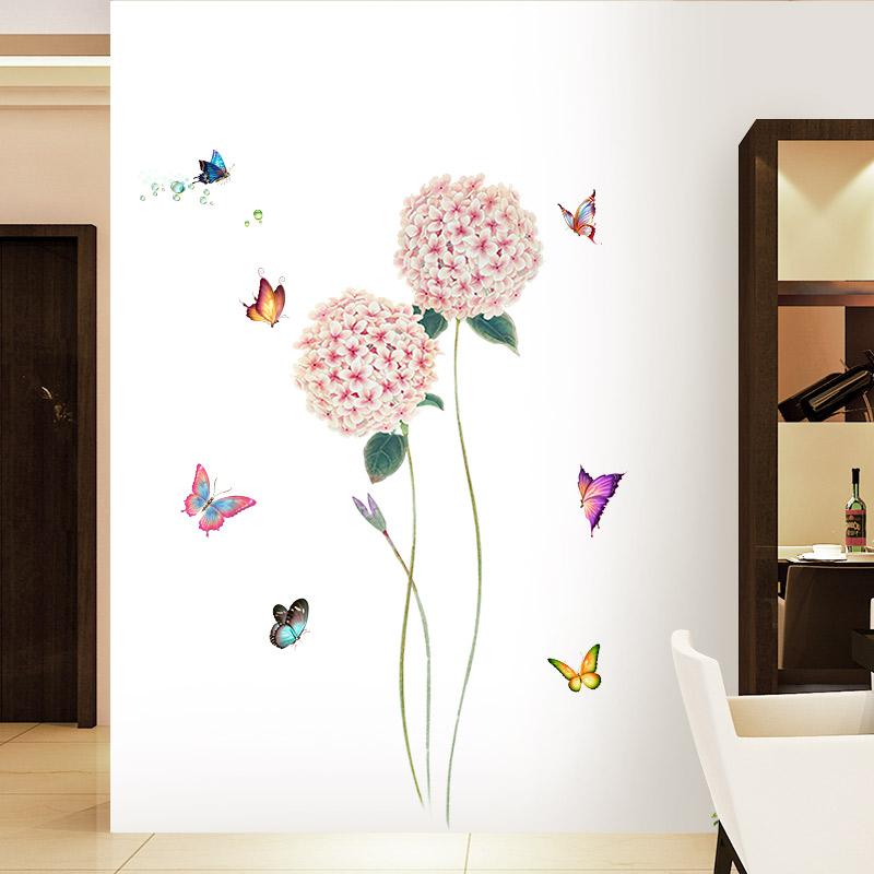 墙纸自粘卧室温馨蝴蝶贴画小清新壁纸客厅房间装饰品宿舍防水贴纸