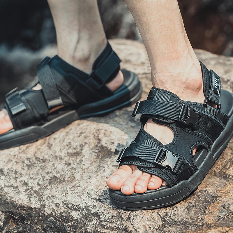 SAIQI/赛琪2019新款凉鞋男女鞋夏季休闲情侣沙滩凉鞋休闲运动凉鞋