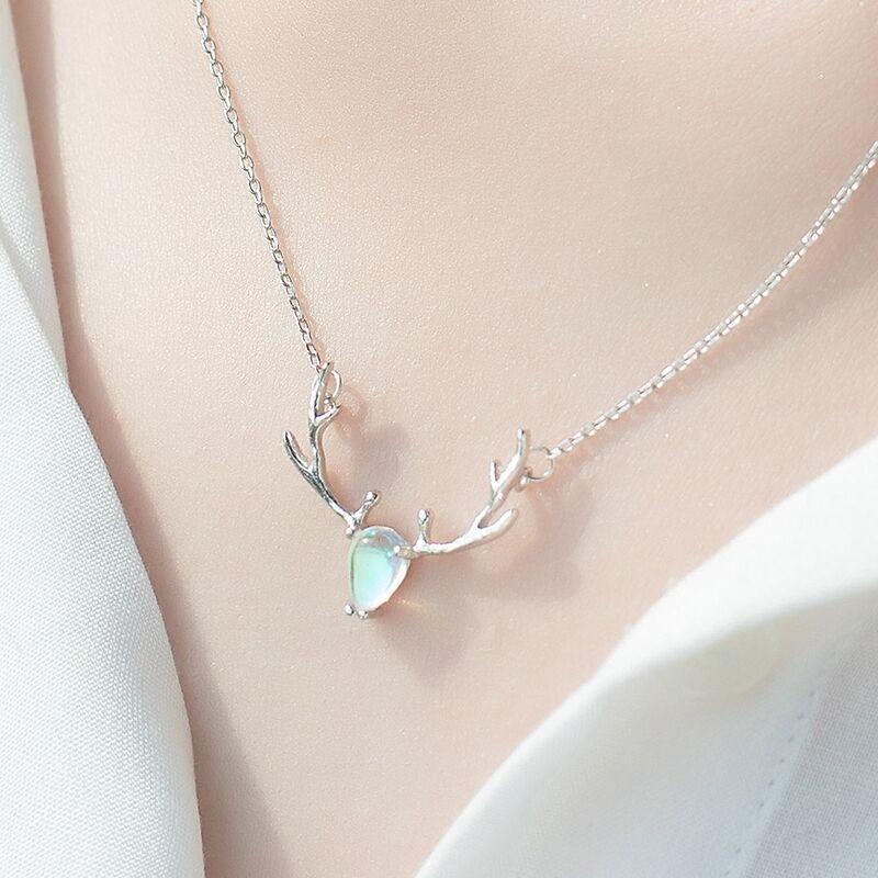 爱心玫瑰金色项链锁骨链女简约清新韩版吊坠时尚首饰送女友礼物