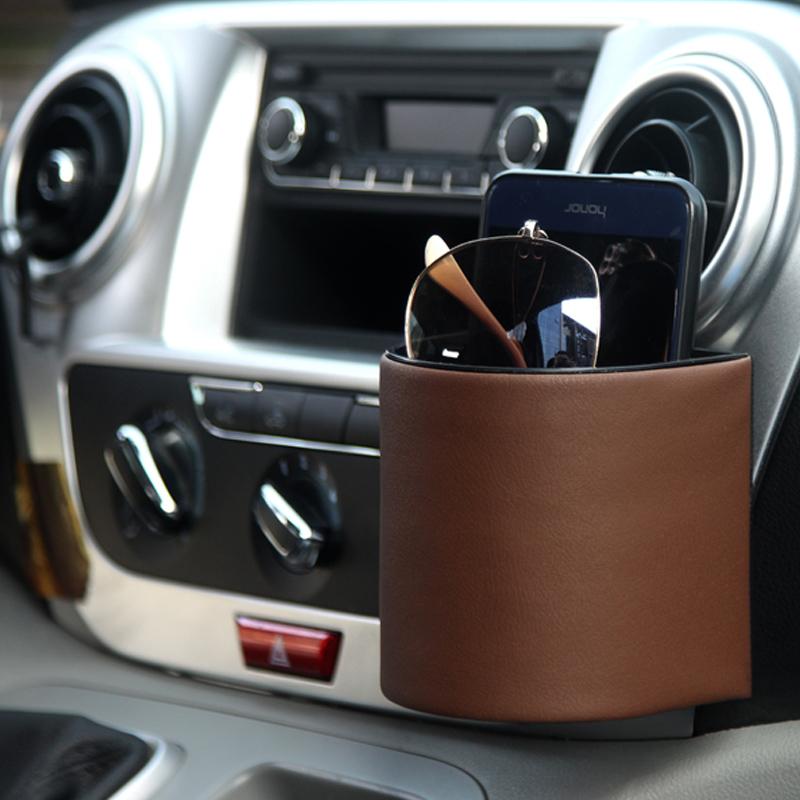 汽车内饰用品出风口置物袋车用收纳袋车载创意车储物盒车内手机袋