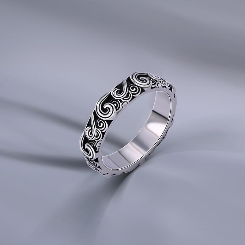 海盗船银饰新款戒指女欧美复古银指环个性冷淡风戒指男士潮网红