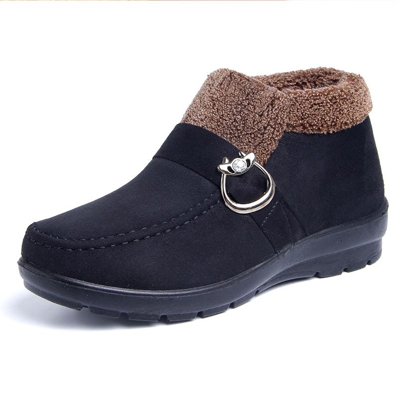 老北京布鞋女冬中年女士妈妈休闲老婆棉鞋老年人加绒毛毛大码鞋子