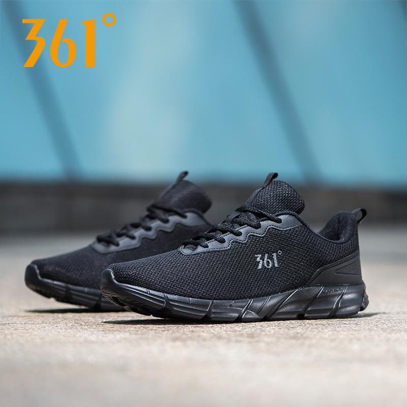361度运动鞋男鞋冬季新款正品轻便网面慢跑鞋子皮革面男士跑步鞋