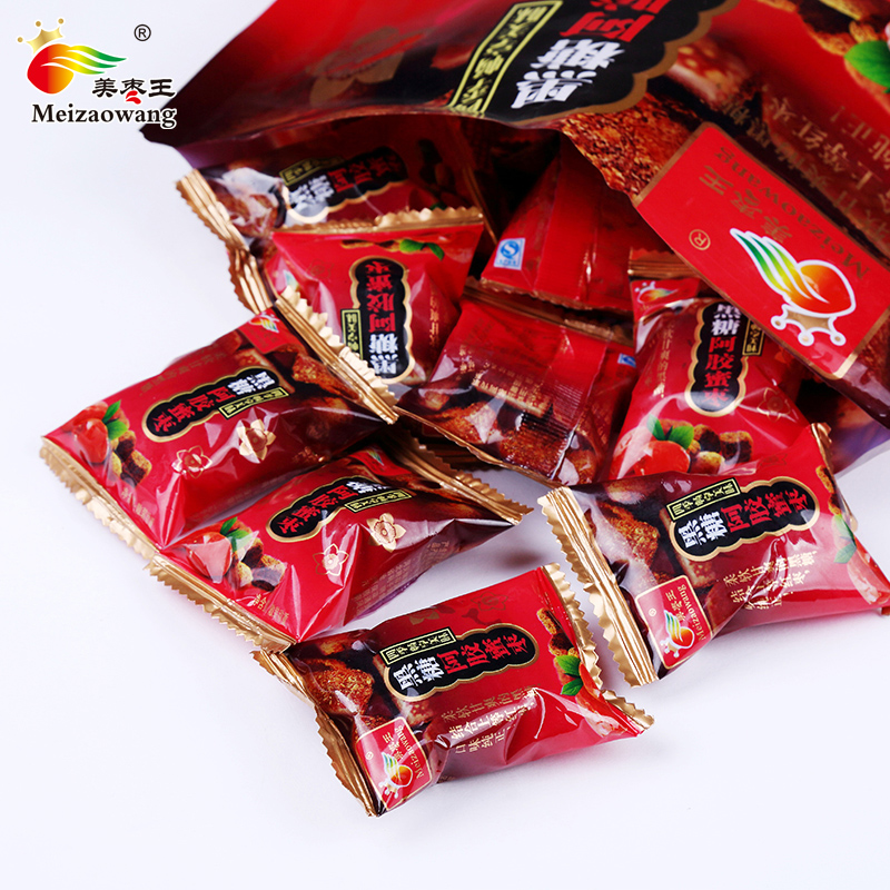 美枣王阿胶枣无核小包装蜜枣500g蜜饯黑糖金丝喜糖红枣独立包粽子