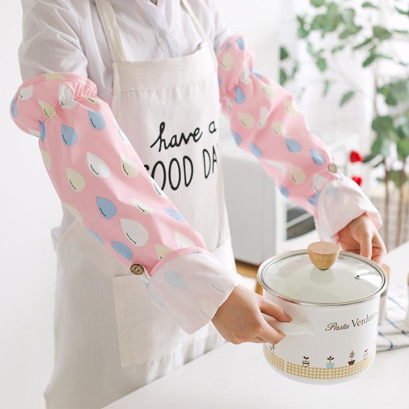 厨房做饭神器工作套袖防水可爱女袖套炒菜防油溅手套袖头手部防烫