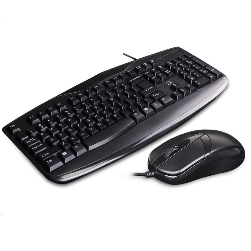 达尔优有线键盘鼠标套装游戏家用办公防水台式电脑笔记本键鼠外设