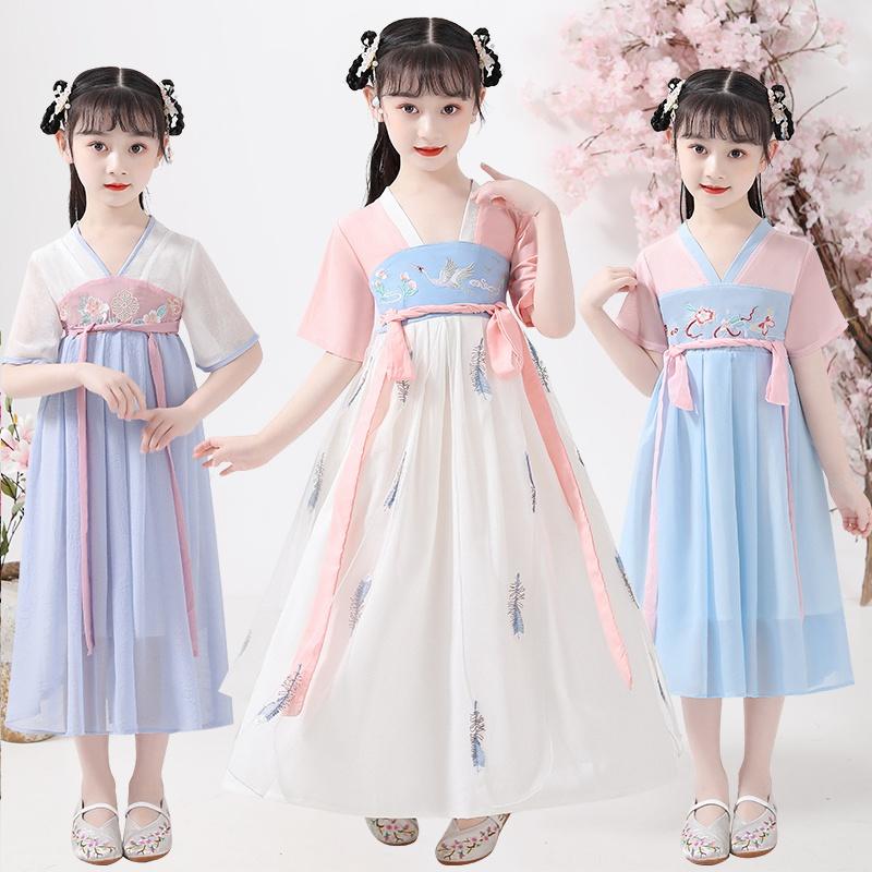 那是 儿童新款中国风超仙古装汉服连衣裙