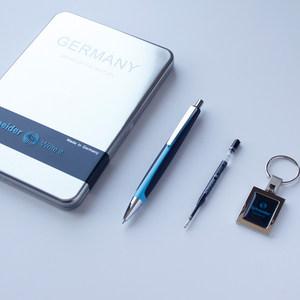 送钥匙扣 德国进口Schneider施耐德飞翔中油笔大容量防水圆珠笔送礼商务办公签名礼盒