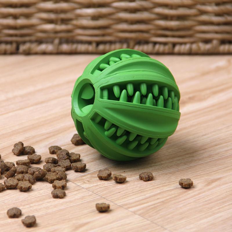 狗狗玩具耐咬漏食球大型犬训练磨牙洁齿训狗橡胶球小型犬磨牙玩具