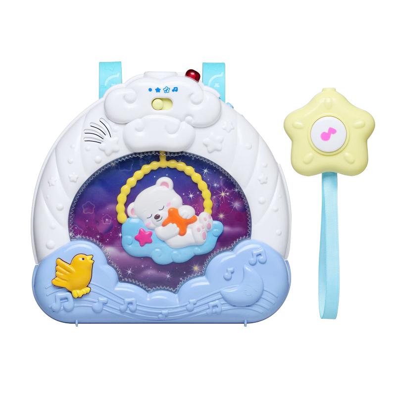 英纷投影仪床铃 新生婴儿玩具0-3-6-9个月宝宝床头铃摇铃旋转0807