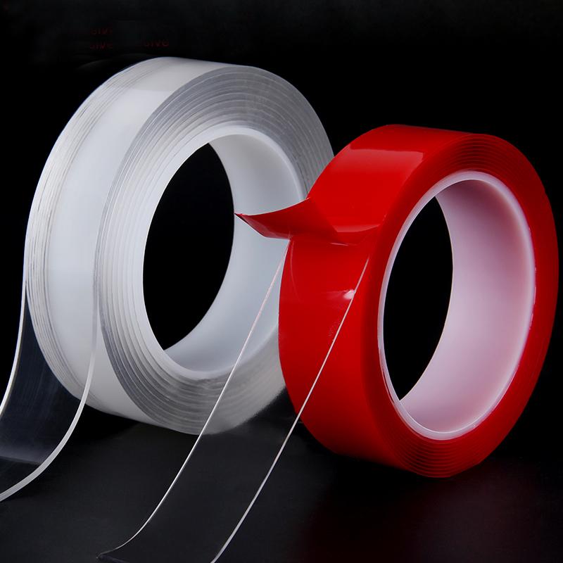 万次可用双面胶可水洗无痕魔力胶随意贴纳米胶强沾固定贴 双面胶