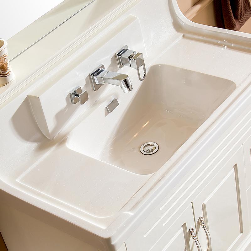 浴室柜洗脸盆洗面盆冷热抽拉式三件套四件套水龙头分体入墙式配件