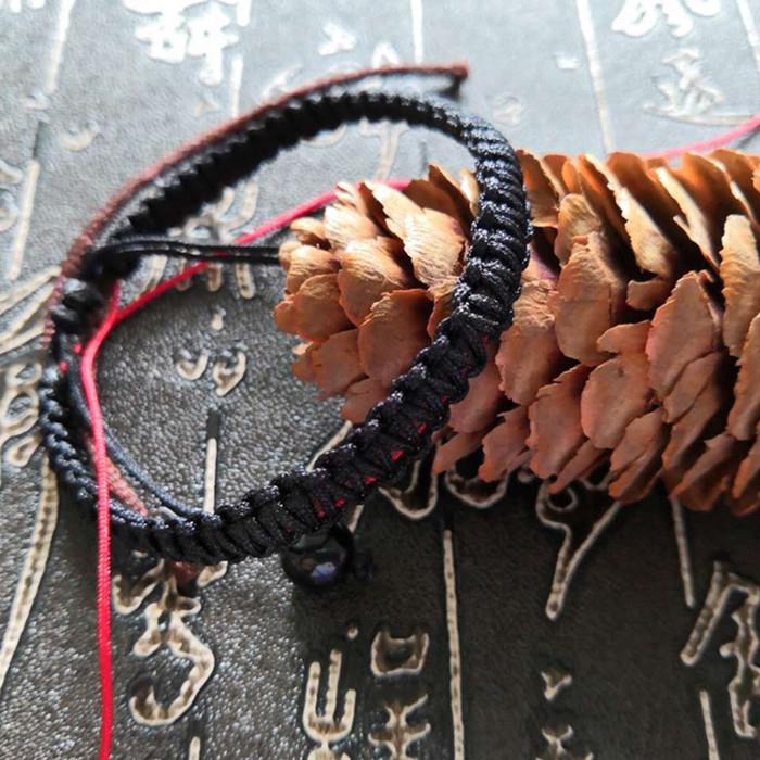 手工材料包 diy 抖音同款头发编织手链情侣手编绳送男友网红手绳