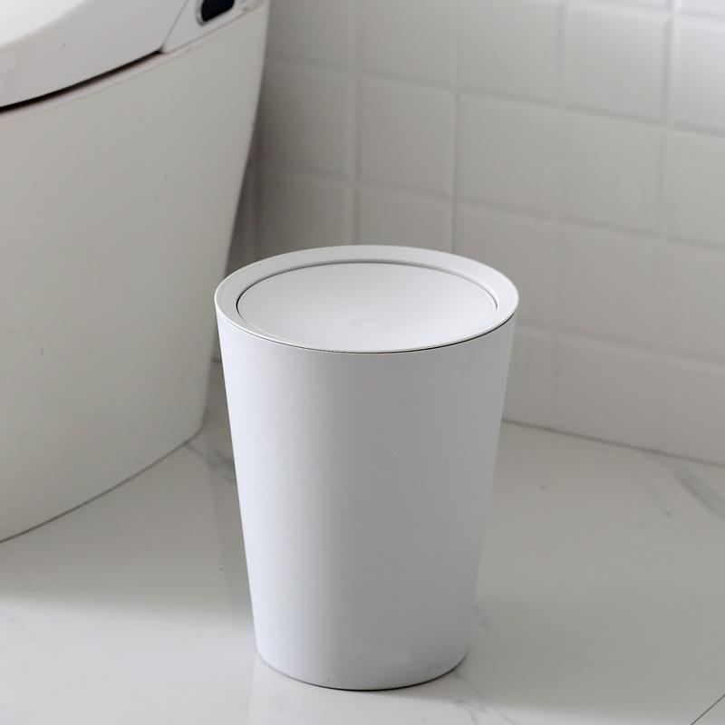 带盖垃圾桶家用客厅卧室可爱大号带摇盖卫生间创意厨房北欧垃圾筒