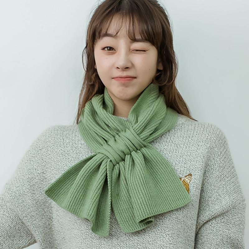 小围巾女韩版百搭秋冬季必备可爱少女日系ins纯色学生毛线围脖男