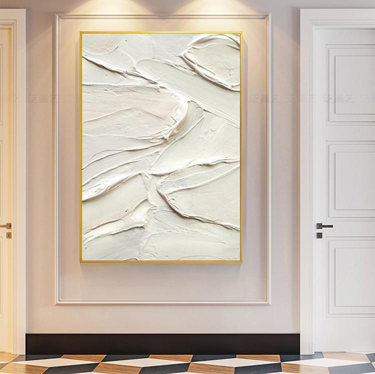 手绘抽象油画现代简约客厅玄关餐厅背景墙装饰画极简厚肌理设计
