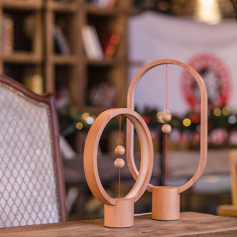 智能磁吸灯磁力平衡灯浪漫网红台灯家居创意小夜灯结婚生日礼物女
