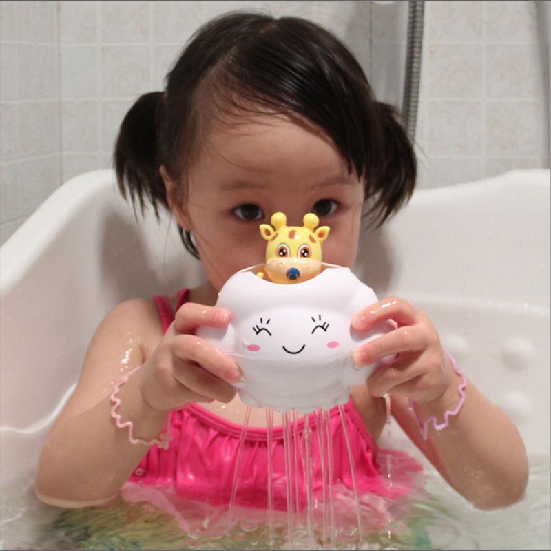 抖音儿童戏水玩具小鹿云雨原理卡通玩具宝宝洗头洗澡浴室洒水沐浴