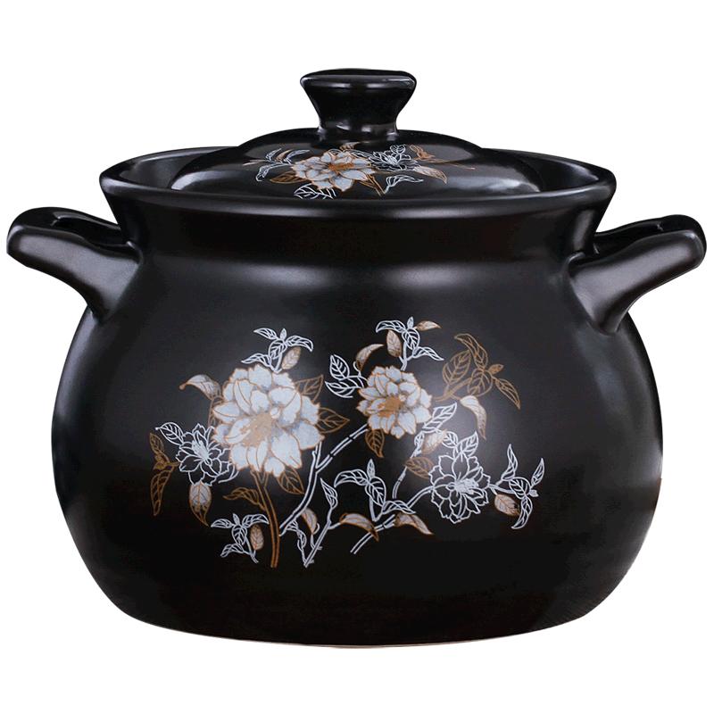 曼达尼砂锅炖锅耐高温瓦罐汤煲陶瓷小沙锅家用明火燃气煲汤锅汤锅