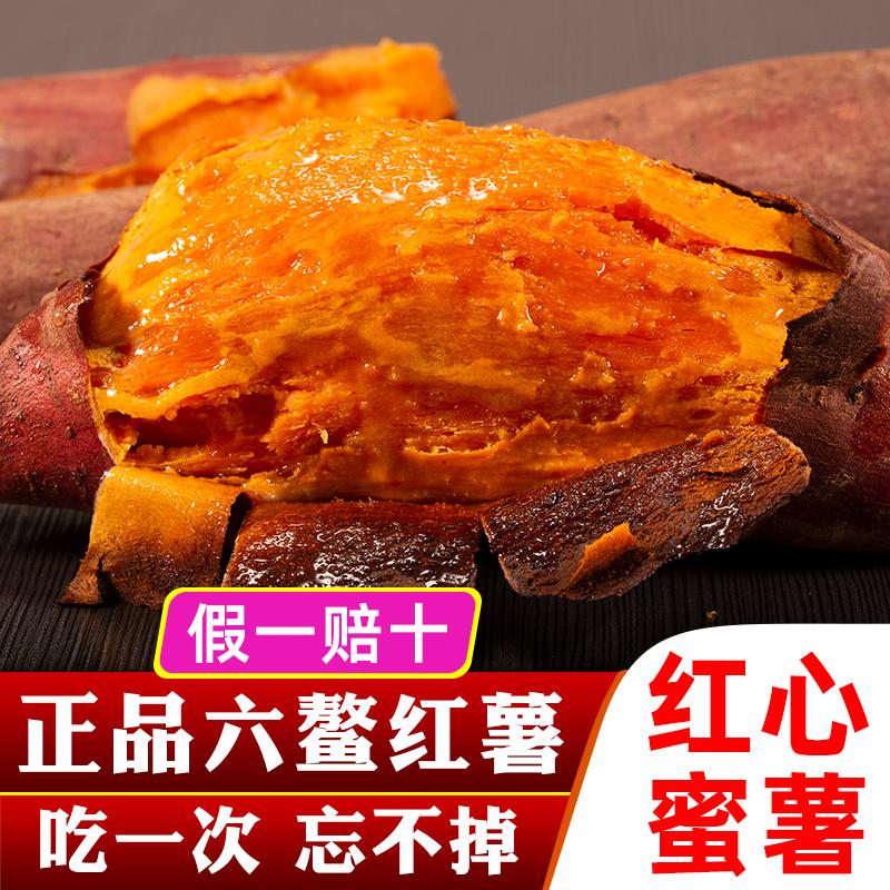 【福建产地官方店】正宗六鳌蜜薯糖心红蜜薯新鲜农家板栗红薯5斤