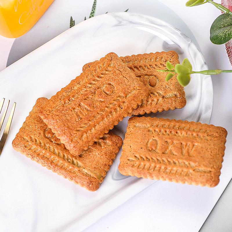 低GI饱腹代餐全麦饼干无糖精孕妇0零食卡脂肪热量一整箱粗粮饼干