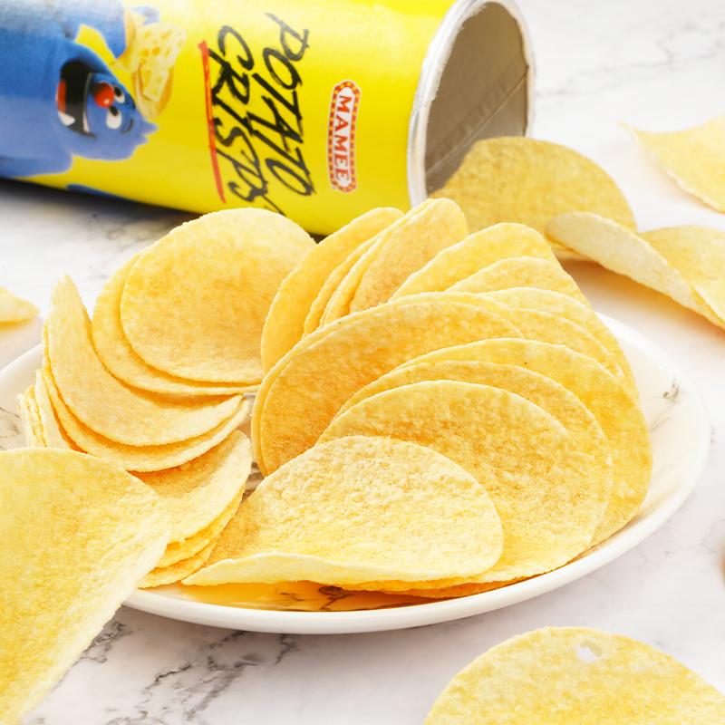 MAMEE/妈咪马来西亚进口原味薯片100g*3罐香辣味马铃薯片膨化食品
