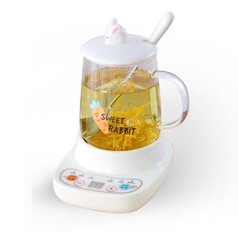煮茶神器小型养生壶迷你一人办公室烧茶炉mini电炖杯玻璃烧水壶