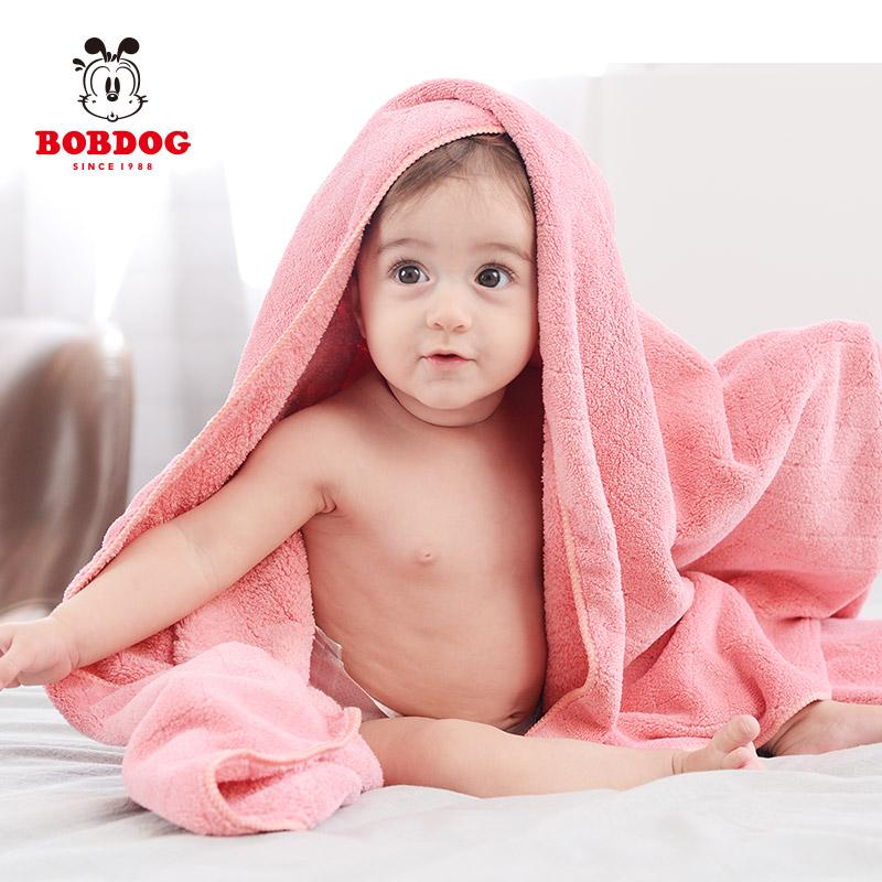 巴布豆婴儿浴巾超柔宝宝洗澡儿童新生儿比纯棉吸水初生夏秋款轻薄