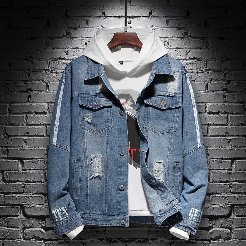 EPSZ品牌新款男士春装上衣牛仔外套韩版潮流修身休闲帅气百搭男装