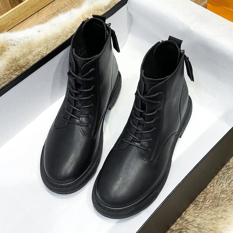 马丁靴女2021年新款春秋单靴ns百搭爆款厚底秋冬休闲百搭英伦风格