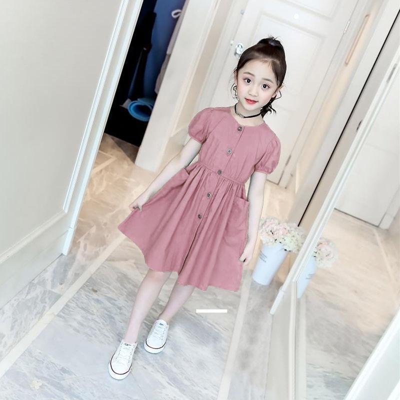 女童连衣裙夏2021童装女童夏装公主裙儿童裙子夏小女孩裙子3-16岁