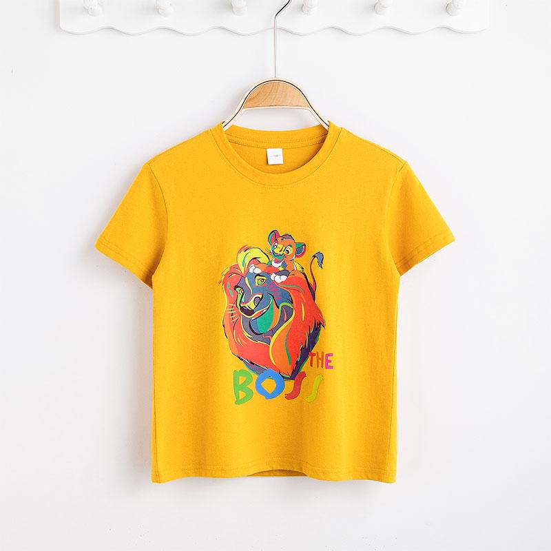 迪士尼男童短袖T恤2020新款夏装中大童洋气半袖上衣男孩夏天衣服