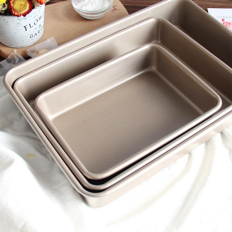 不沾家用烤盘烤箱用雪花酥牛轧糖饼干古早蛋糕卷面包模具长方形盘
