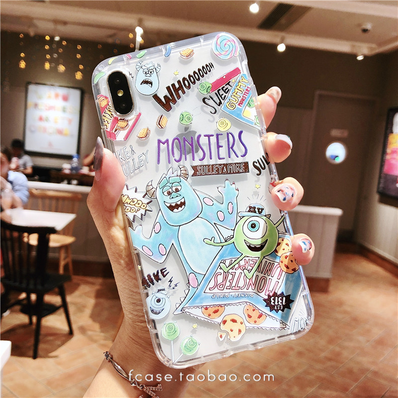 怪兽玩具总动员苹果7/8plus透明软壳iphoneXsmax手机壳气垫防摔XR