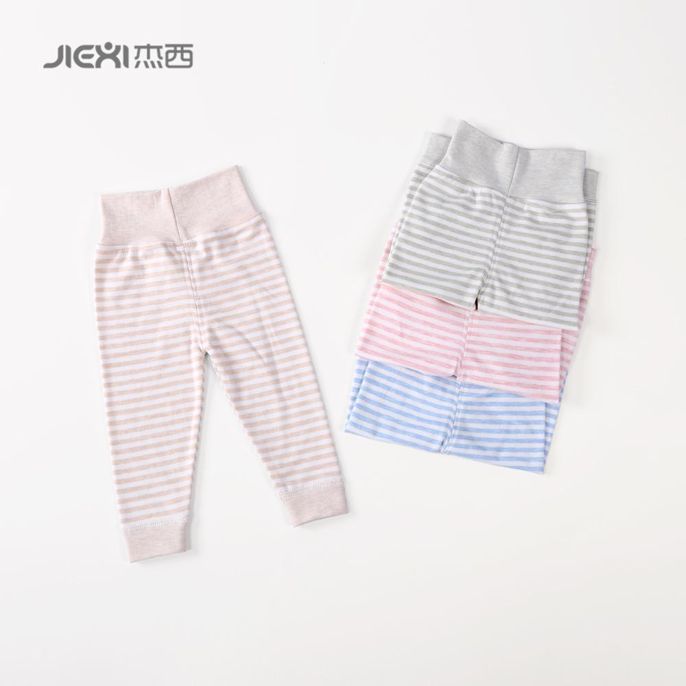 杰西高腰裤护肚秋裤保暖莱卡棉开档男女宝宝婴儿护肚围小孩子内衣