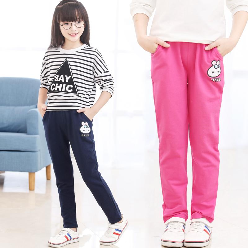 女童裤子春秋2020新款韩版休闲打底裤宽松小女孩长裤儿童运动裤