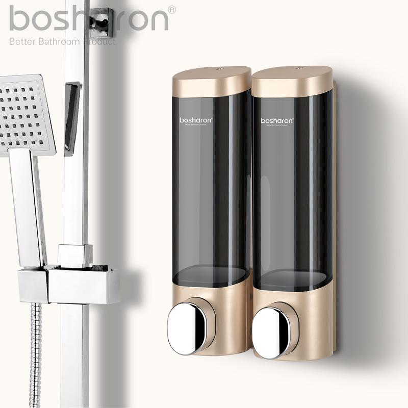 免打孔皂液器衛生間壁掛式洗手液盒按壓賓館洗髮水沐浴露盒掛牆