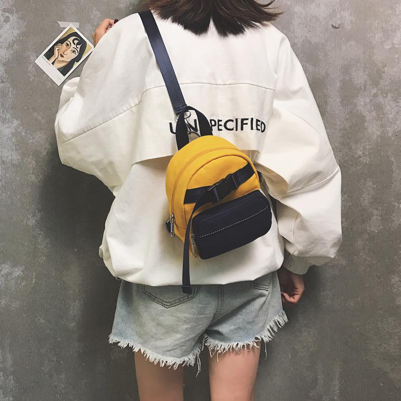 双肩包女2018新款韩版百搭学生斜挎胸包ins超火旅行迷你小背包潮