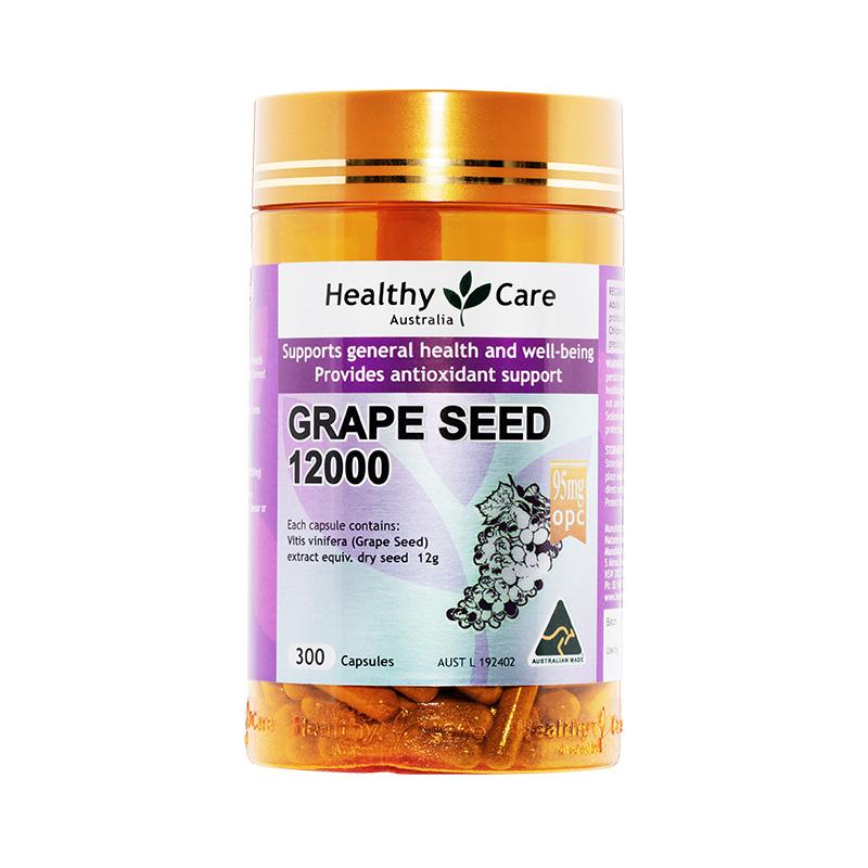 临期低价,澳洲进口 Healthy Care 葡萄籽提取物胶囊12000mg*300粒