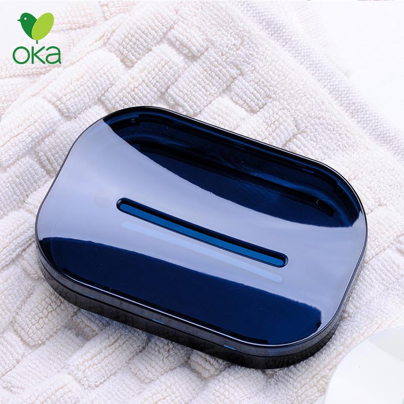 亚克力肥皂盒 香皂盒 创意 双层沥水北欧家用肥皂盒 家用浴室皂架