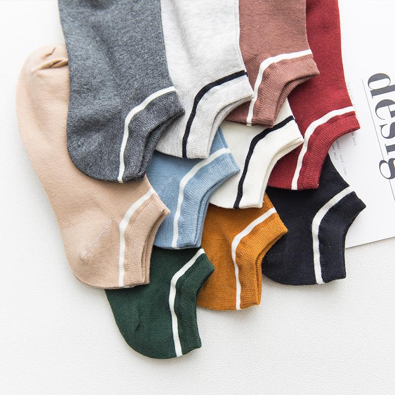5双袜子女士春秋新款船袜韩国学院风个性潮流学生低帮吸汗短筒袜