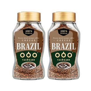 肖战同款 隅田川进口速溶纯黑咖啡粉意式冻干冰美式0蔗糖100g 2瓶