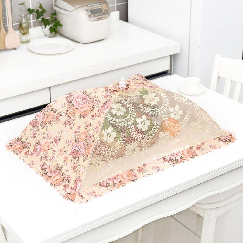 大号可折叠蕾丝防苍蝇的罩子菜盖伞桌遮菜防蝇罩菜罩饭罩碗罩餐罩