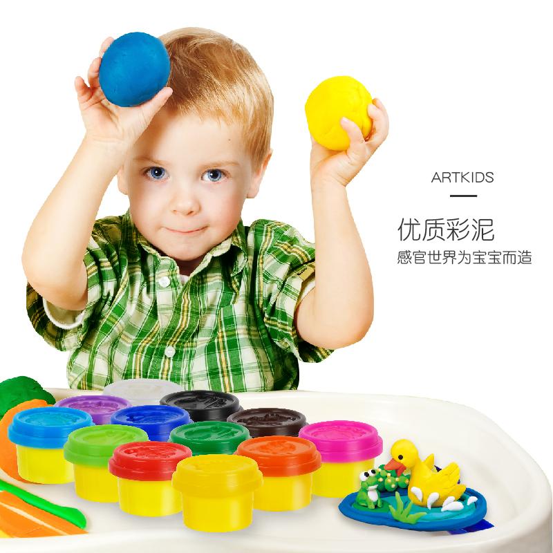 美国艺启乐无毒小麦彩泥12色儿童橡皮泥男孩手工女孩粘土玩具套装