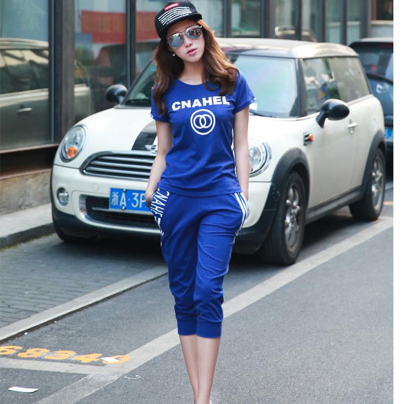 大码运动服套装女胖MM2018新款夏季潮学生宽松短袖休闲韩版两件套
