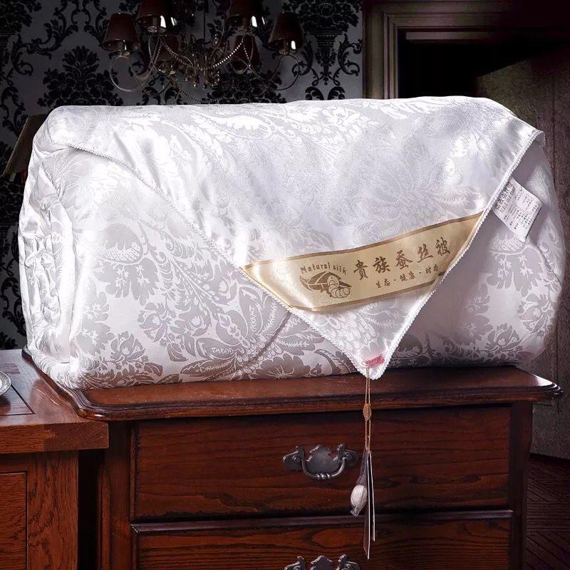 [品牌清仓】蚕丝被提花夏凉被桑蚕丝3/4斤空调薄被学生宿舍双人被