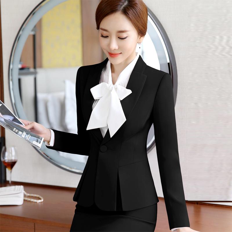 白领职业装女装套装商务西装气质正装显瘦前台