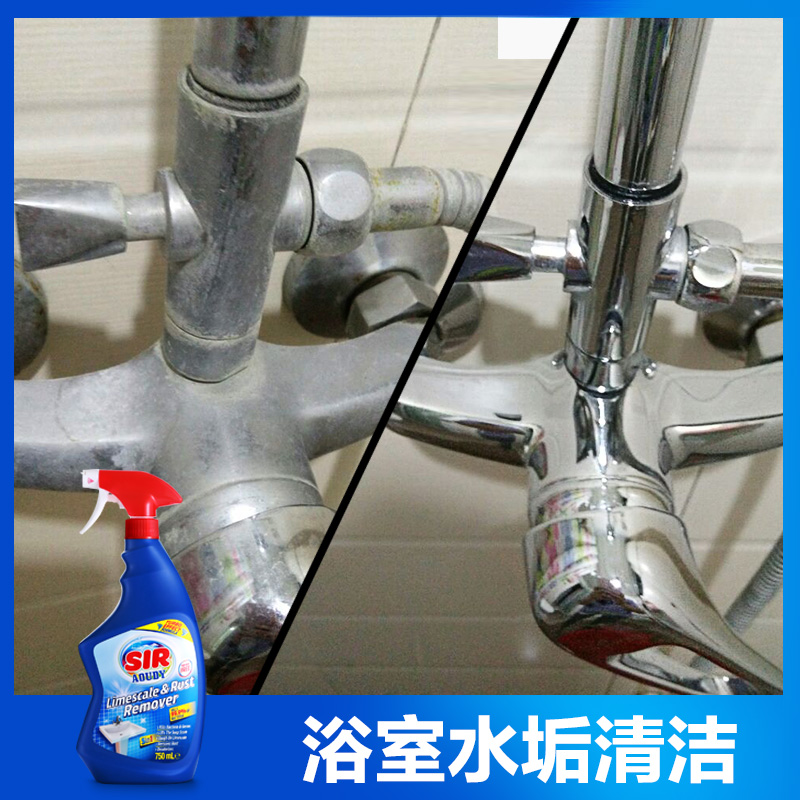 进口浴室水垢清除剂不锈钢水龙头玻璃水渍清洁剂清洗除垢强力去污