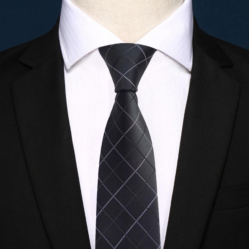 VORLAD沃雷顿商务6cm韩版细窄男士休闲条纹学生小领带礼盒装